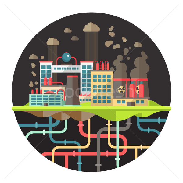 Modernes design écologique illustration vecteur usines Photo stock © Decorwithme