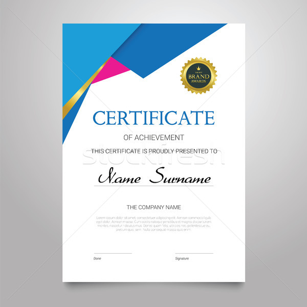 Certificate - vertical elegant vector document Stock photo © Decorwithme