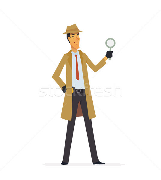 Private detective - cartoon people characters illustration Stock photo © Decorwithme