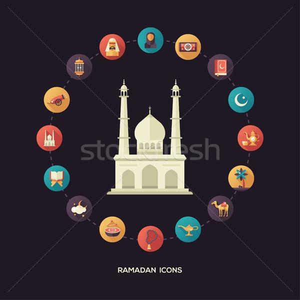 Briefkaart sjabloon cultuur moderne Stockfoto © Decorwithme