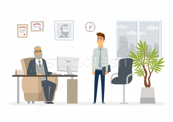 Stressful situation at work - modern cartoon people characters illustration Stock photo © Decorwithme