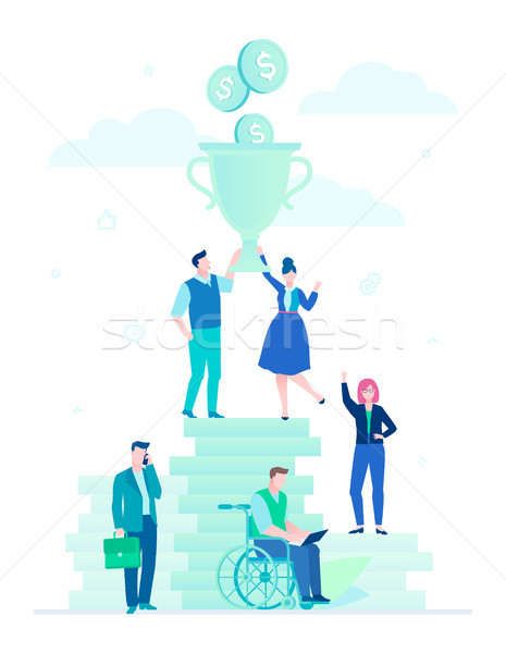 Stock photo: Financial success - flat design style illustration