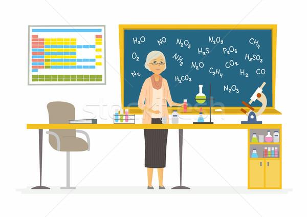 Chemistry teacher - modern cartoon people characters illustration Stock photo © Decorwithme