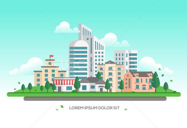 ストックフォト: 都市 · 風景 · 現代 · 場所 · 文字 · 町