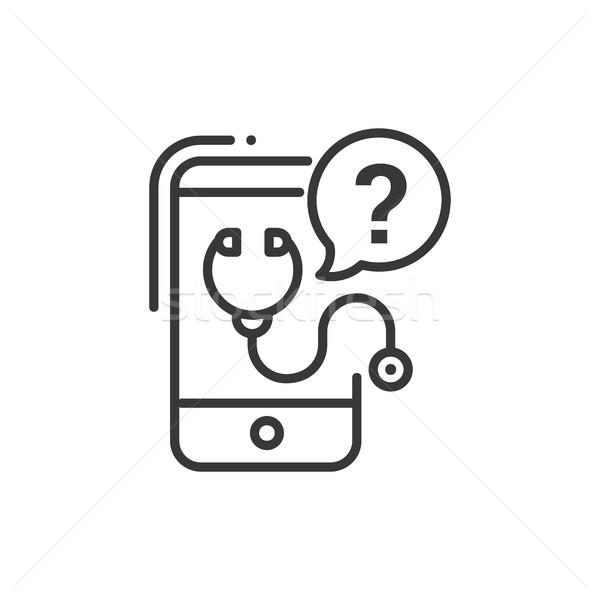 携帯 コンサルタント 行 デザイン 孤立した アイコン ストックフォト © Decorwithme