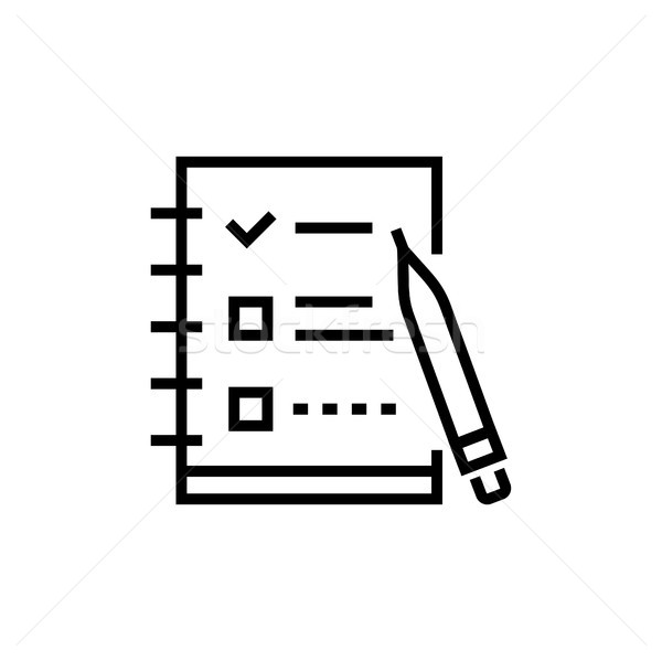 Check list - line design single isolated icon Stock photo © Decorwithme
