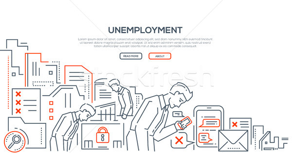 Unemployment - modern line design style illustration Stock photo © Decorwithme