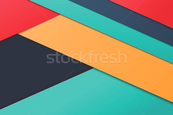 Illustratie ongebruikelijk moderne materiaal ontwerp vector Stockfoto © Decorwithme