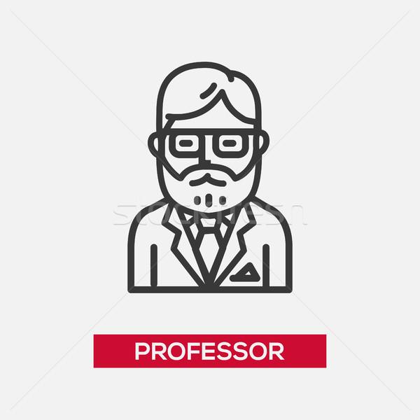 Profesor ikona odizolowany nowoczesne wektora line Zdjęcia stock © Decorwithme