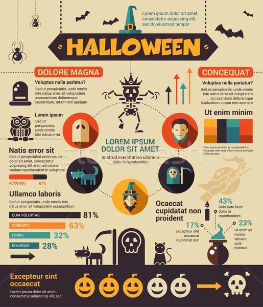 Halloween poster brochure coprire modello layout Foto d'archivio © Decorwithme