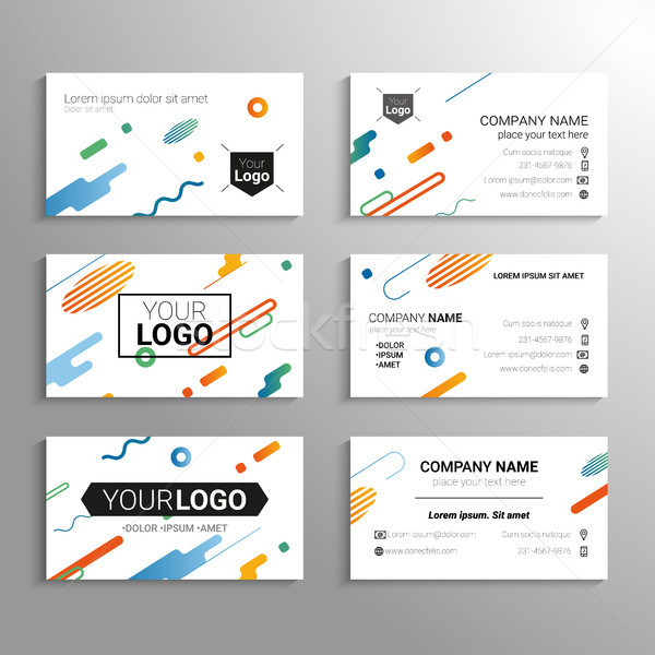Business cards - vector template abstract background Stock photo © Decorwithme