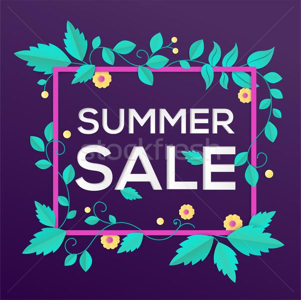 Nyár vásár modern vektor színes illusztráció Stock fotó © Decorwithme