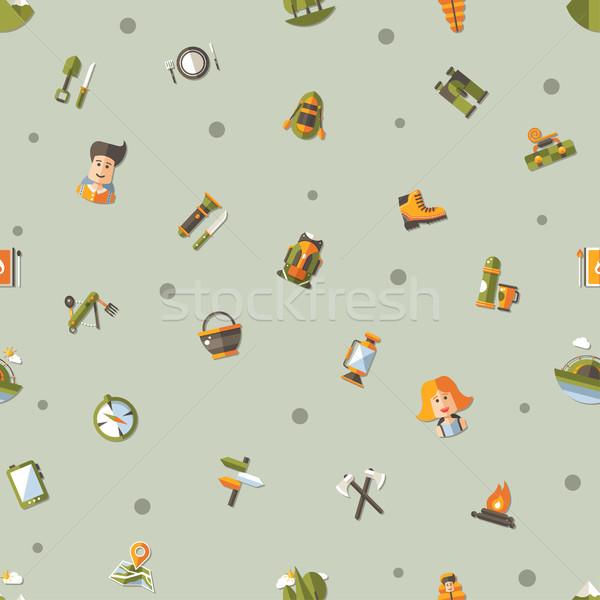 現代 デザイン パターン キャンプ ハイキング ストックフォト © Decorwithme