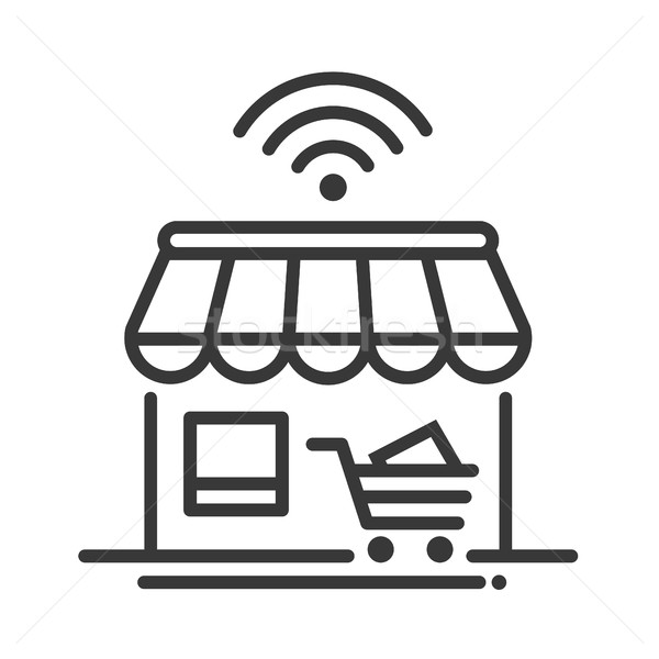 Online store single icon Stock photo © Decorwithme