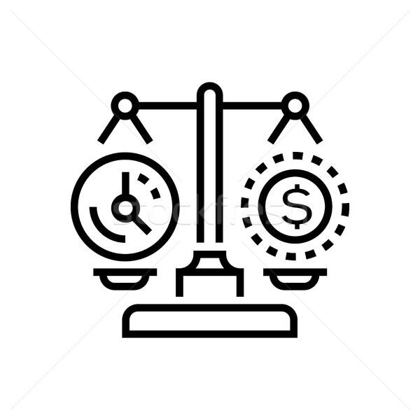 Tijd vs geld lijn ontwerp geïsoleerd Stockfoto © Decorwithme