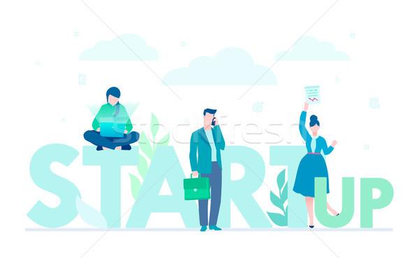 Foto stock: Inicio · empresa · diseno · estilo · colorido · ilustración