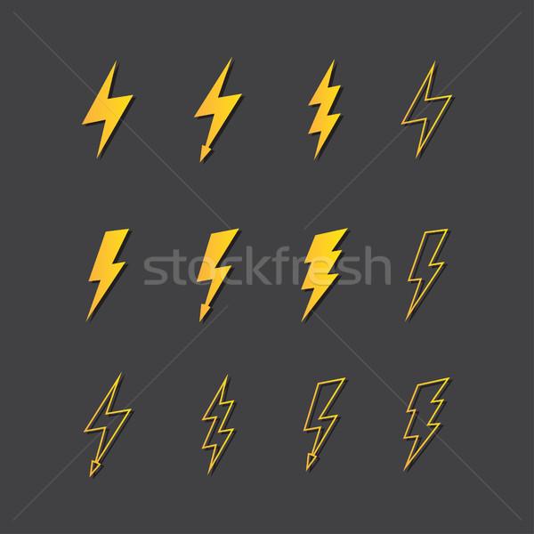 実例 ベクトル 雷 光 にログイン ストックフォト © Decorwithme