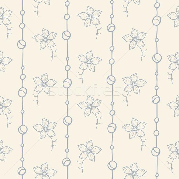 Illustration floral modèle vecteur mode Photo stock © Decorwithme