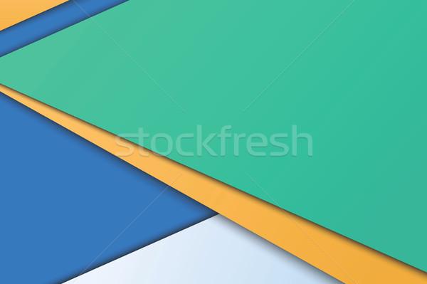 Illusztráció szokatlan modern anyag terv vektor Stock fotó © Decorwithme