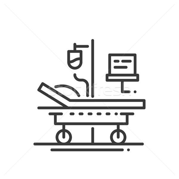 Hospital - line design single isolated icon Stock photo © Decorwithme