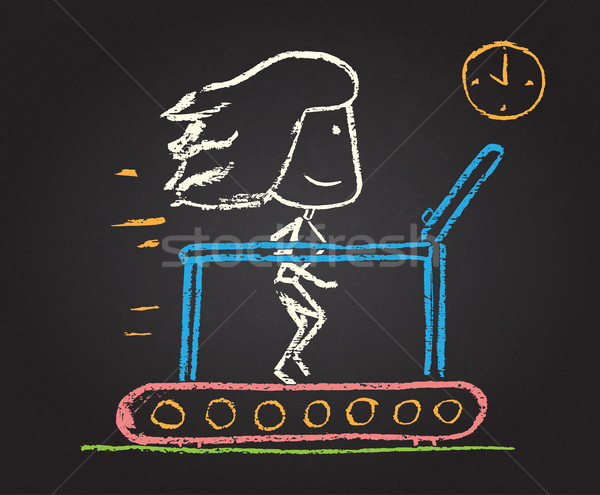 Illustration of chalked character Stock photo © Decorwithme