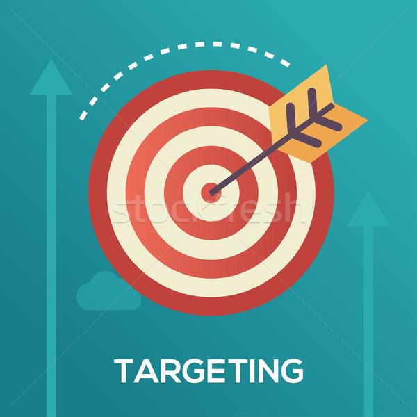 Targeting - flat design single icon Stock photo © Decorwithme