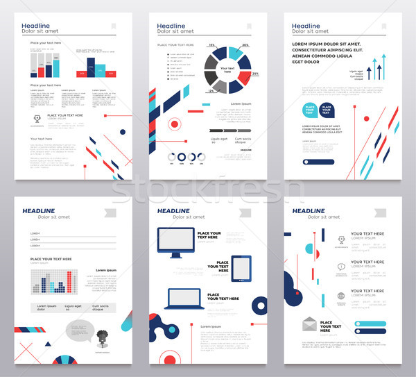 Presentation booklet - set of modern vector abstract templates Stock photo © Decorwithme