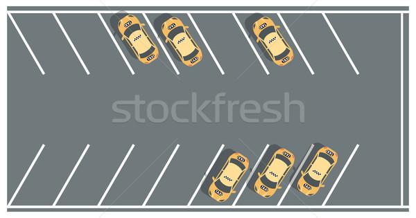 такси стоянки современных вектора красочный иллюстрация Сток-фото © Decorwithme