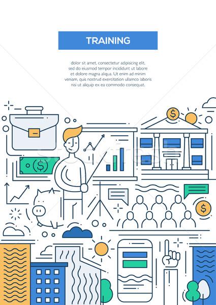 Affaires formation ligne design brochure affiche Photo stock © Decorwithme