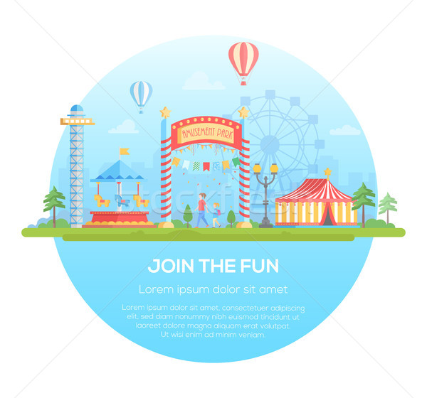 Join the fun - modern flat design style vector illustration Stock photo © Decorwithme