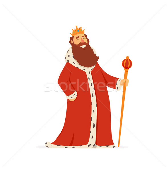 King - modern vector cartoon people characters illustration Stock photo © Decorwithme