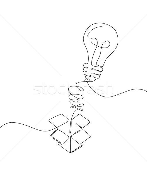 Creative idea - one line design style illustration Stock photo © Decorwithme