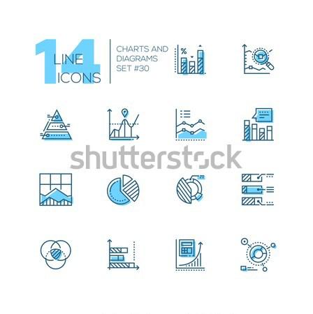 Wykresy zestaw line projektu stylu Zdjęcia stock © Decorwithme