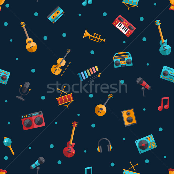 Illustration modernes design instruments de musique musique vecteur Photo stock © Decorwithme
