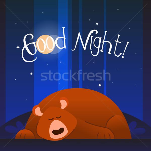 Bear- modern vector phrase flat illustration. Stock photo © Decorwithme