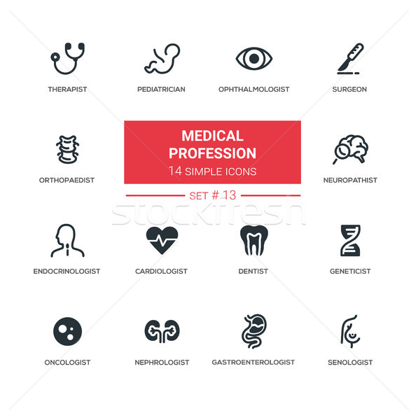 Médicaux professions modernes simple léger ligne Photo stock © Decorwithme