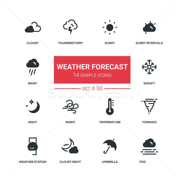 Pogoda prognoza projektu stylu wysoki Zdjęcia stock © Decorwithme
