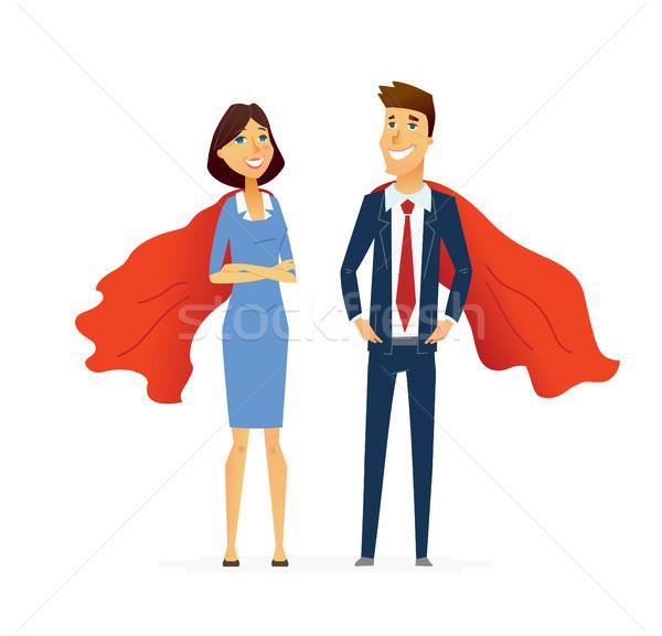Homme d'affaires femme modernes design personnes Photo stock © Decorwithme