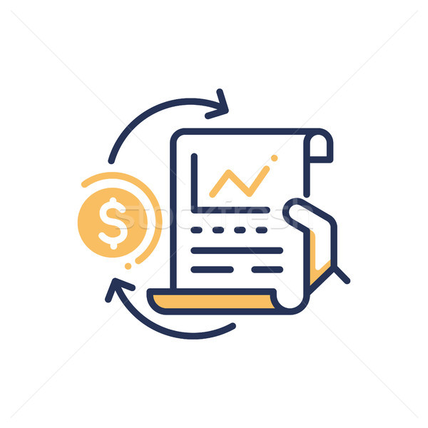 Stock Exchange - modern vector line design icon. Stock photo © Decorwithme