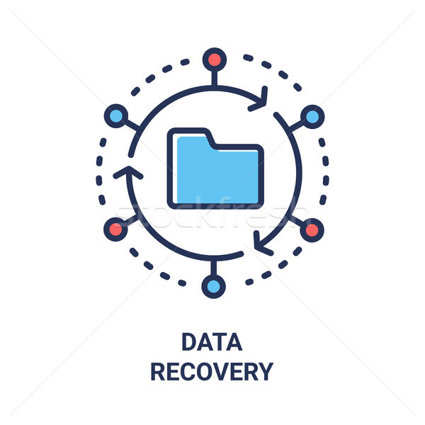 Data Recovery - modern vector line design single icon. Stock photo © Decorwithme