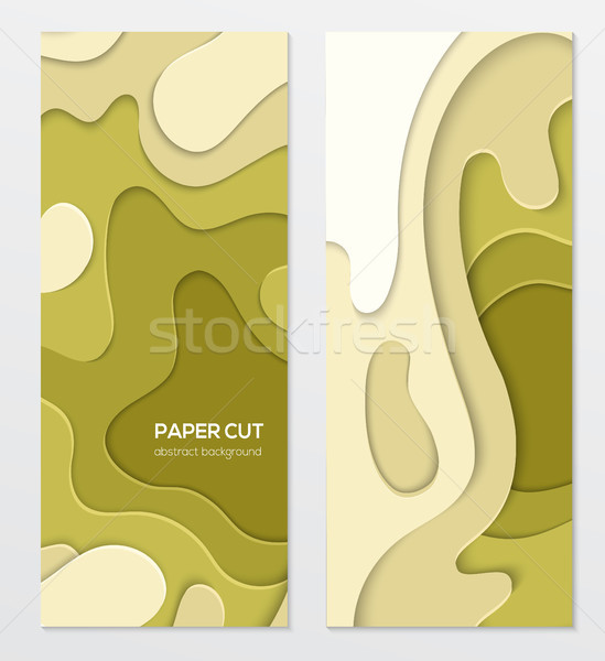 Abstract green banner - set of vector template illustrations Stock photo © Decorwithme