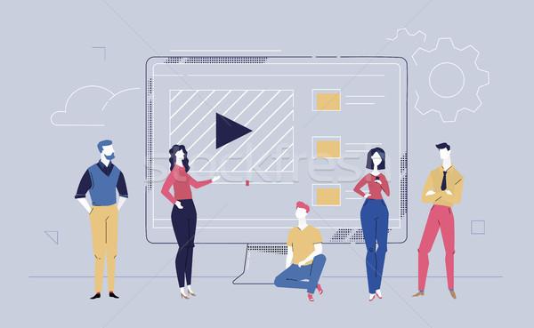 Zespół firmy stronie projektu stylu kolorowy Zdjęcia stock © Decorwithme