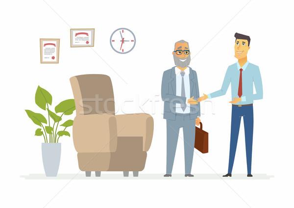 Productivo negocios comunicación moderna Foto stock © Decorwithme