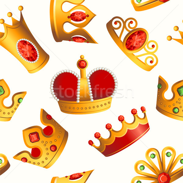 Crowns pattern - seamless modern material design background Stock photo © Decorwithme