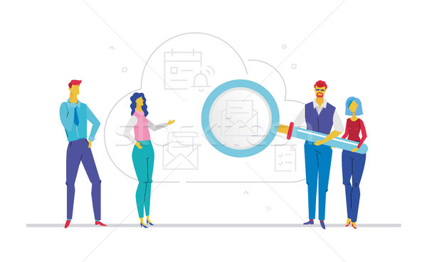 Business correspondence - flat design style colorful illustration Stock photo © Decorwithme