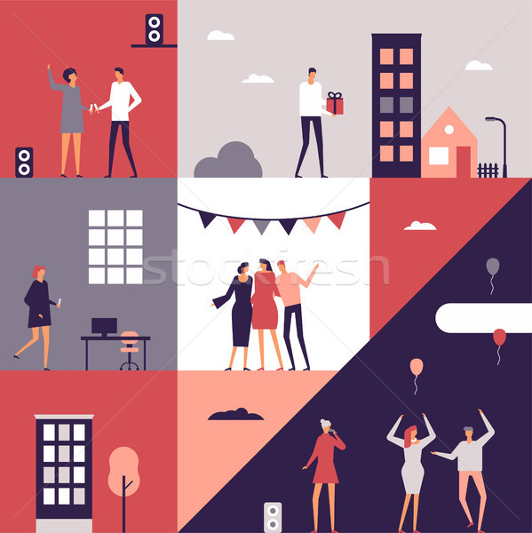 Party - flat design style conceptual illustration Stock photo © Decorwithme