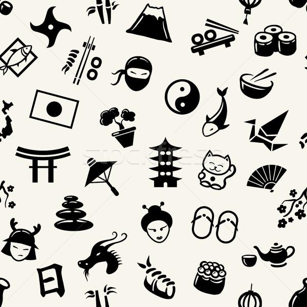 Foto stock: Ilustración · gráfico · diseno · japonés · patrón · vector