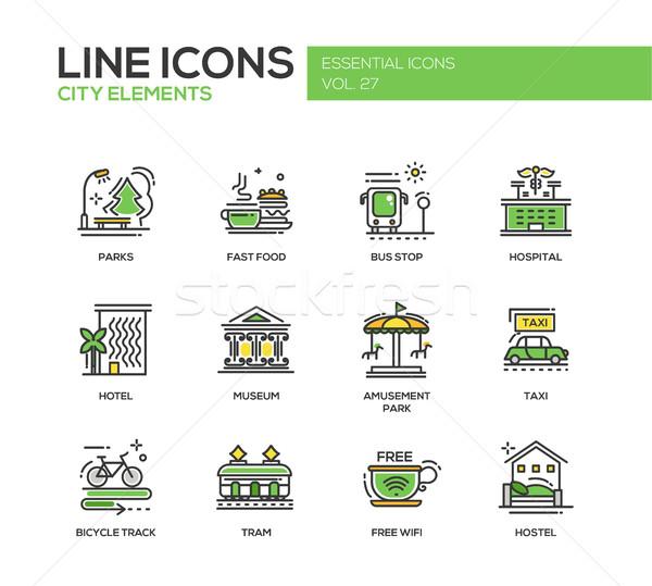 Stok fotoğraf: şehir · elemanları · hat · dizayn · ayarlamak