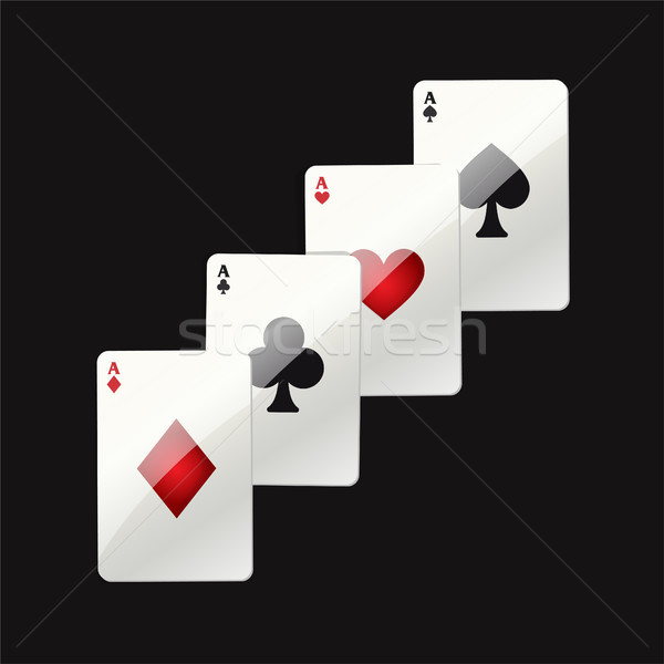 Game cards - modern vector realistic isolated clip art Stock photo © Decorwithme