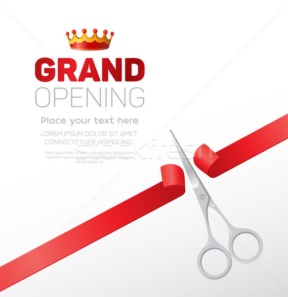 Grand opening template - modern vector illustration with place for text Stock photo © Decorwithme